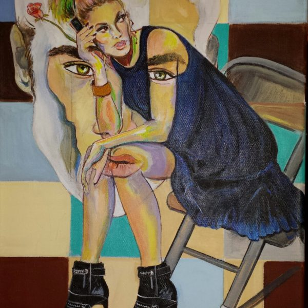 Day 28 Painting Flirting by Teresa Ochoa